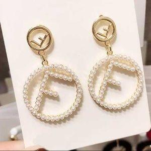 Fabulous Pearl Earrings with F's